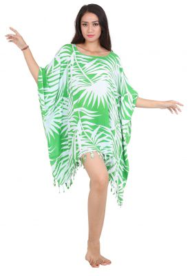 Robe paréos souple jungle vert