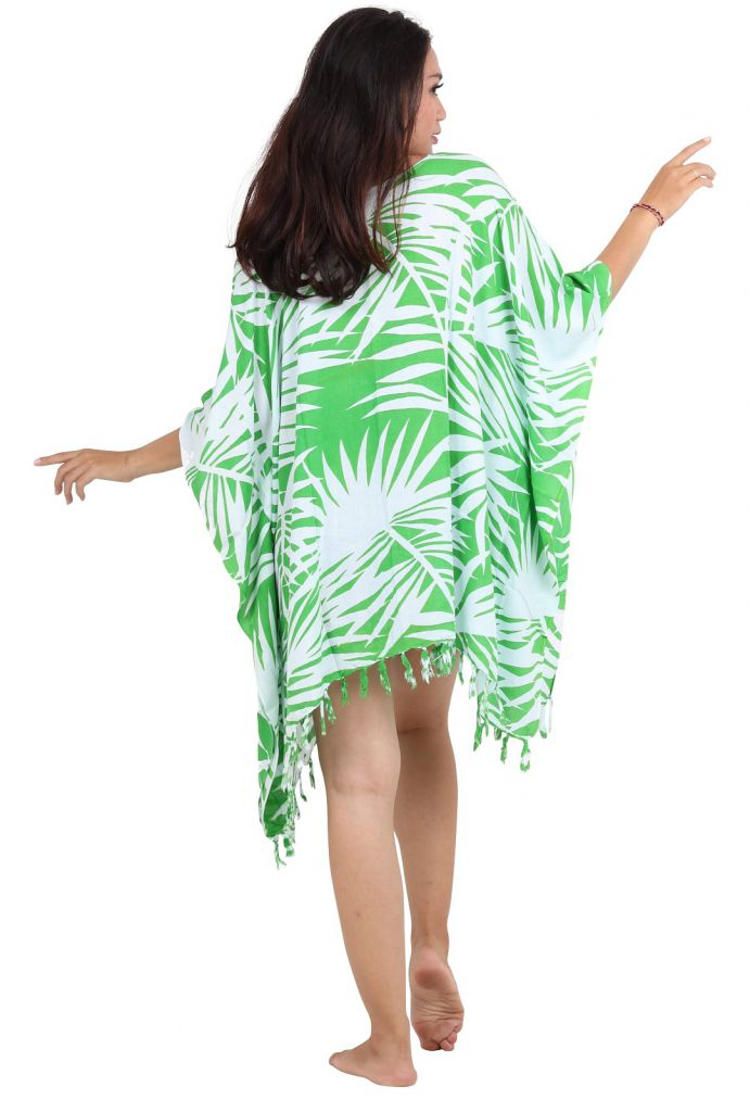 Robe paréos souple jungle vert