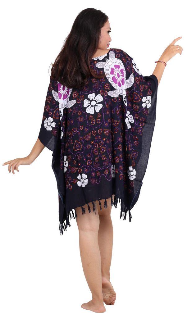 Robe paréos souple tortue violet
