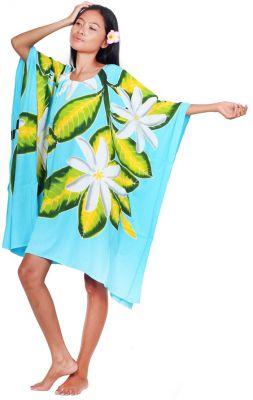Robe paréos Tiare sauvage turquoise