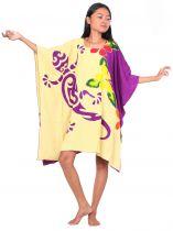 Robe paréos tortue et gecko violet