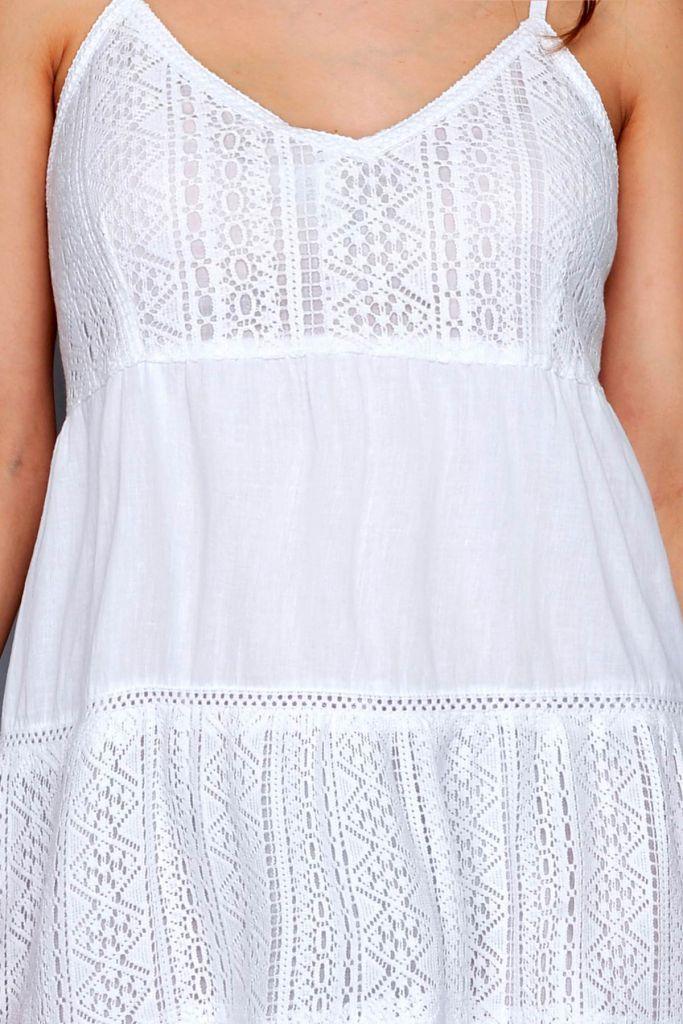 Robe sans manche Ibiza blanche