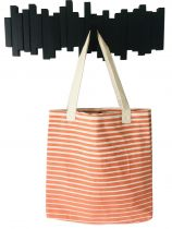 Sac coton fouta orange et blanc