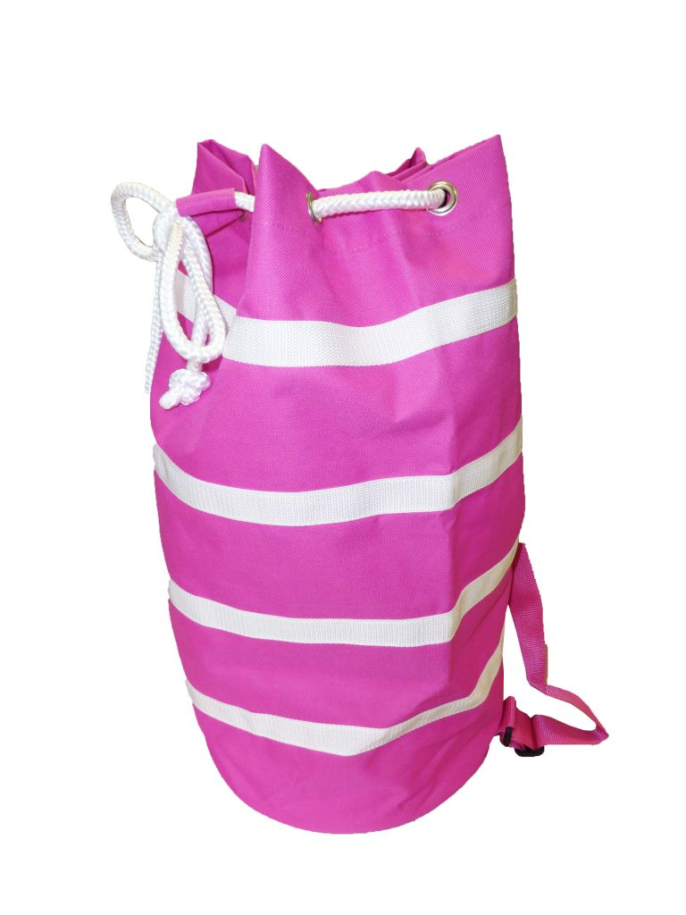 Sac à dos de plage fuchsia 100% polyester de la marque Comptoir de la plage.