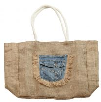 Sac naturel poche en jeans