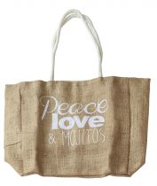 Sac peace, love et mojitos blanc