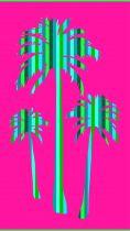 Serviette de plage palmiers