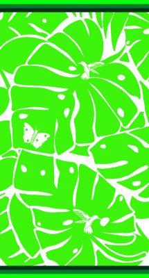 Serviette Jaquard Nature vert