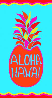 Serviette microfibre Hawai