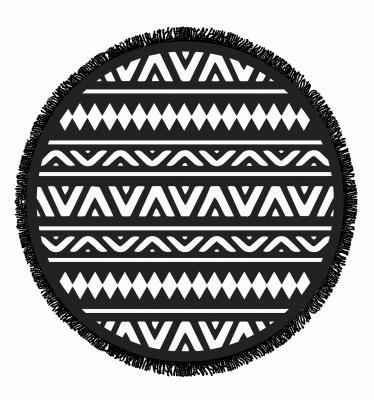 Serviette ronde coton Ikaria