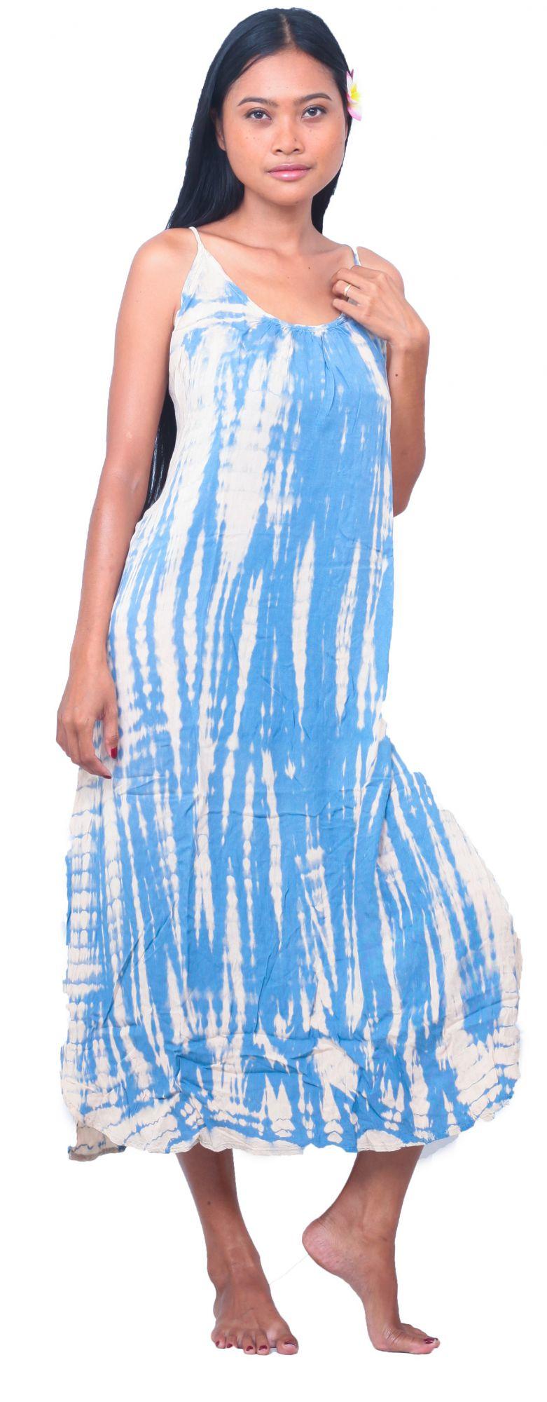 Tunique de plage Tie Dye bleu